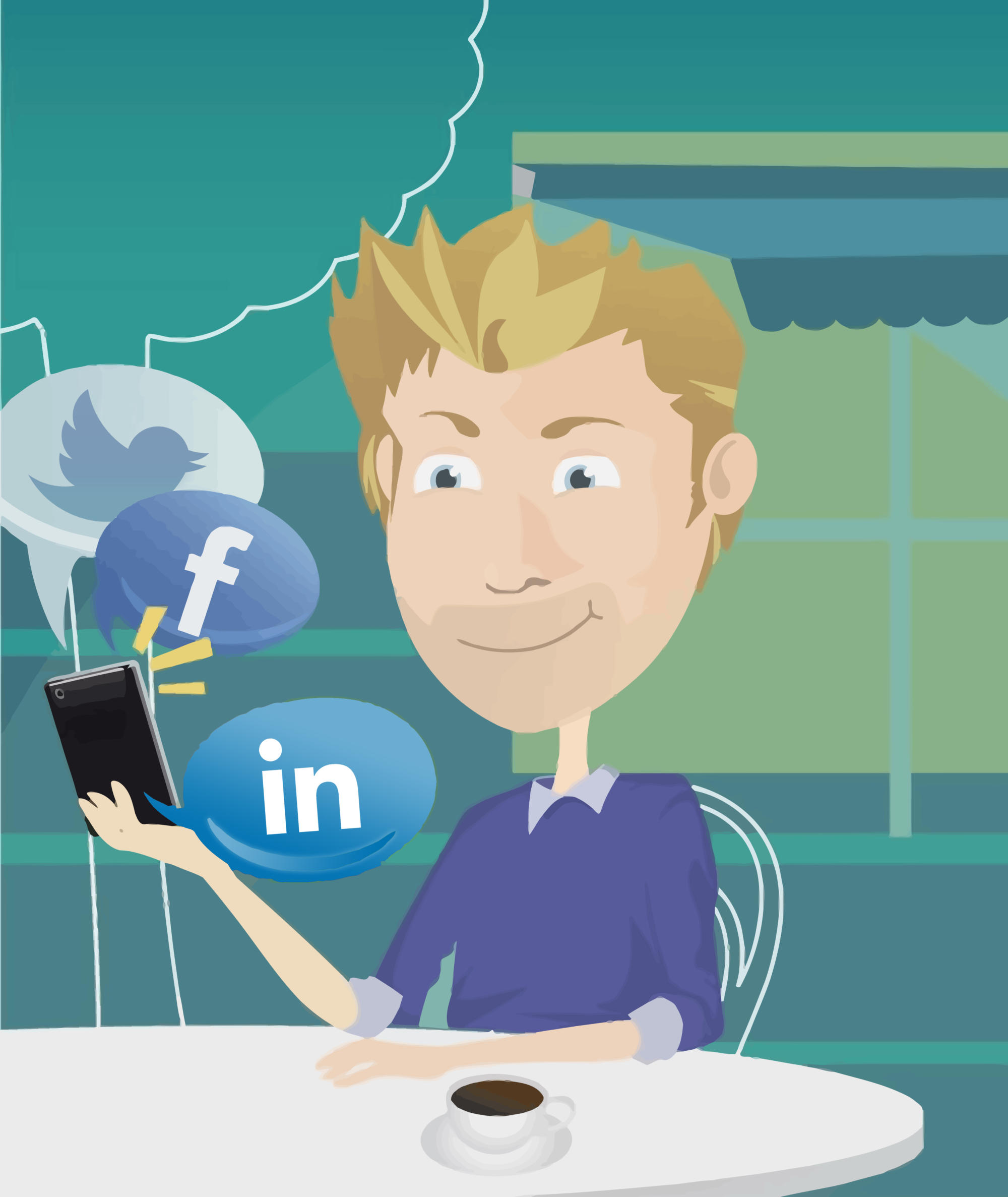 ofischer-Keyvisual zum Social Media Marketing
