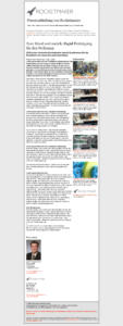 Ein für alle E-Mail Clients kompatibel programmiertes Template für Aussendungen von Pressemitteilungen in unterschiedlichen Sprachen.