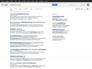 """Ergebnisse zur Google-Recherche """"Hartmetall Werkzeuge""""."""