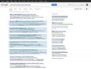 "Google-Recherche ""Suchmaschinenoptimierung Industriegüter"""